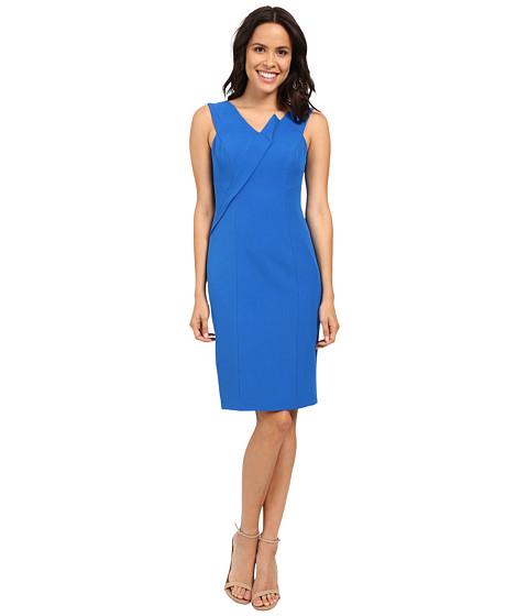 Adrianna Papell Asymmetrical Structured Drape Dress