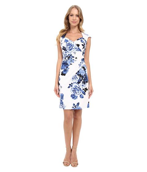 Adrianna Papell Bolero Top Dress w/ Side Pleat Detail