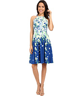 Adrianna Papell - Garden Party Placed Floral Print Dress