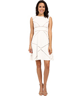 Adrianna Papell - Scoop Neck Sleeveless Dress w/ Illusion