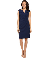 Adrianna Papell - Pleated Side Wrap Sheath Dress