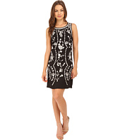 Adrianna Papell - Embroidered Pull-On Shift Dress