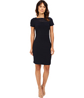 Adrianna Papell - Short Sleeve Banded Dress w/ Back Detail