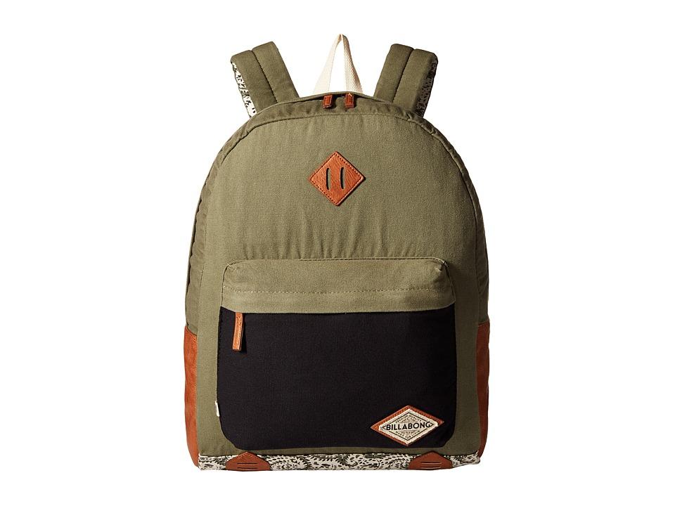 Billabong - Hidden Trek Backpack (Moss) Backpack Bags