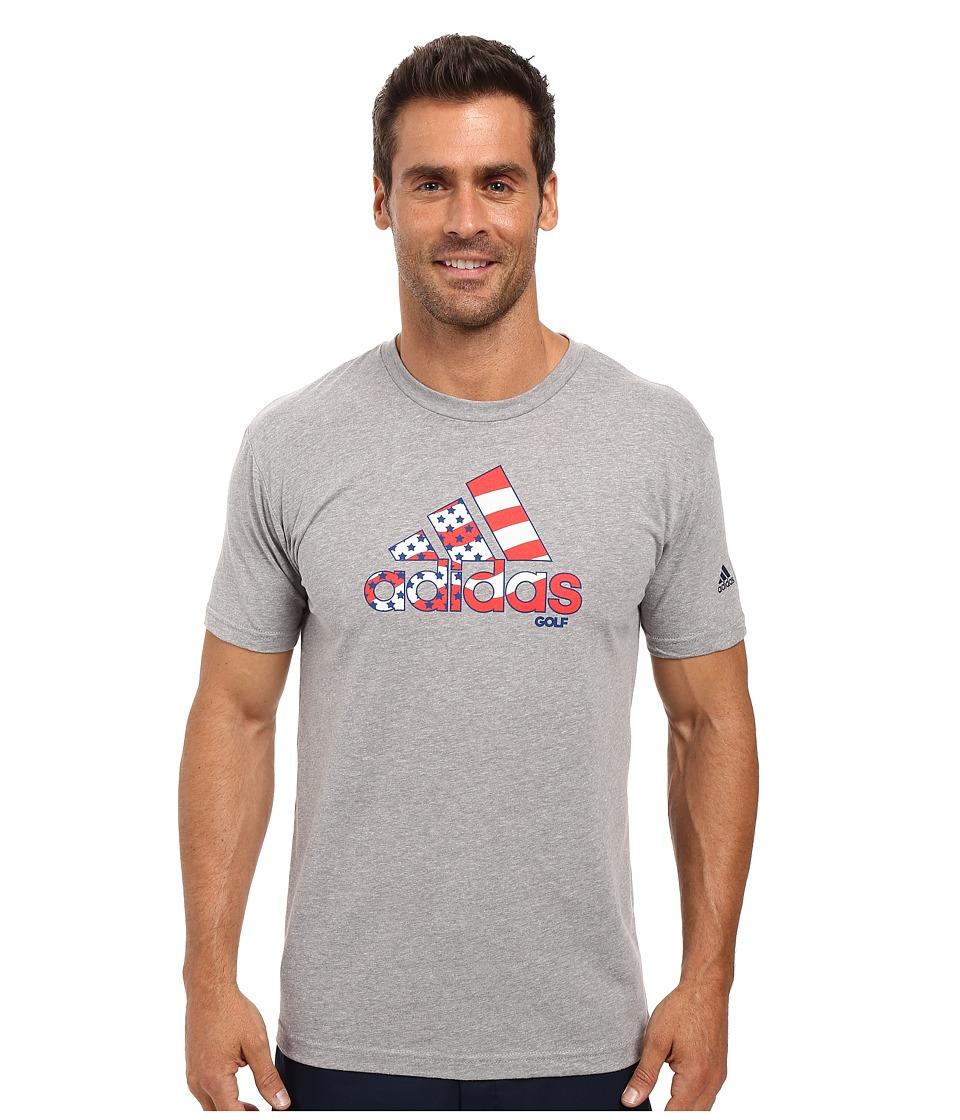 adidas Golf - Flag Logo Tee (White) Men