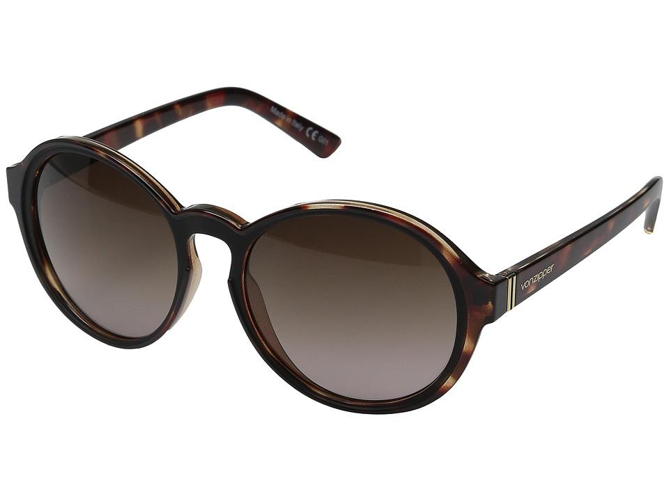 VonZipper Lula (Tortoise Black Satin/Brown Gradient) Sport Sunglasses