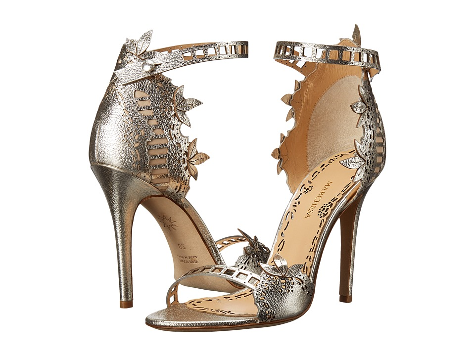Marchesa Margaret Gold Nappa High Heels
