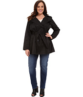 Via Spiga - Plus Size Double Breasted Trench Coat