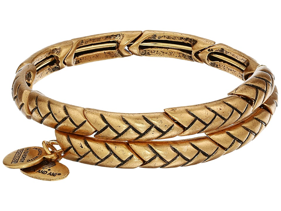 Alex and Ani Natures Weave Wrap Bracelet Rafaelian Gold Bracelet