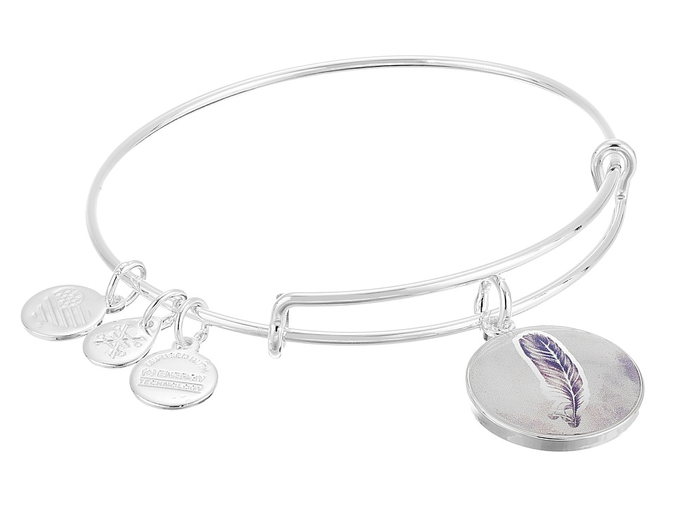Alex and Ani Art Infusion Feather Bracelet Rafaelian Silver Bracelet