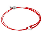 Alex and Ani - Kindred Cord (RED) Heart Red Sterling Rafaelian Silver Bracelet