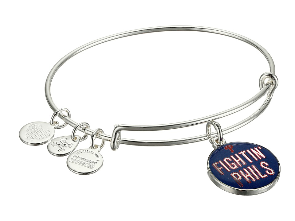 Alex and Ani Fighting Phils Charm Bracelet Rafaelian Silver Bracelet
