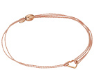Alex and Ani - Kindred Cord (RED) Heart Light Pink Rose Bracelet