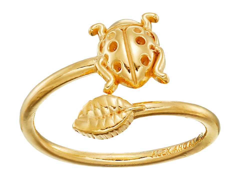 Alex and Ani Ring Wrap Ladybug Rafaelian Gold Ring