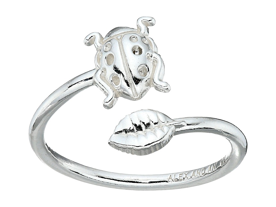 Alex and Ani Ring Wrap Ladybug Rafaelian Silver Ring