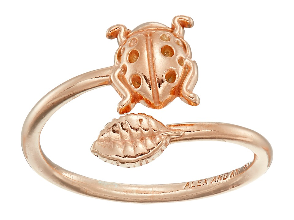 Alex and Ani Ring Wrap Ladybug Rose Gold Ring