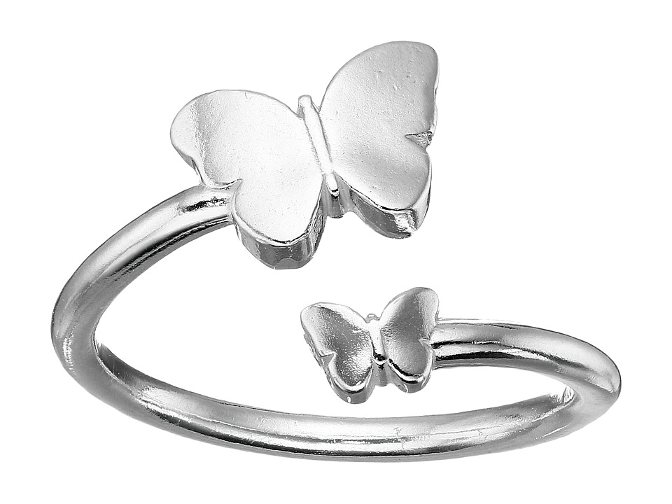 Alex and Ani Ring Wrap Butterfly Sterling Silver Ring