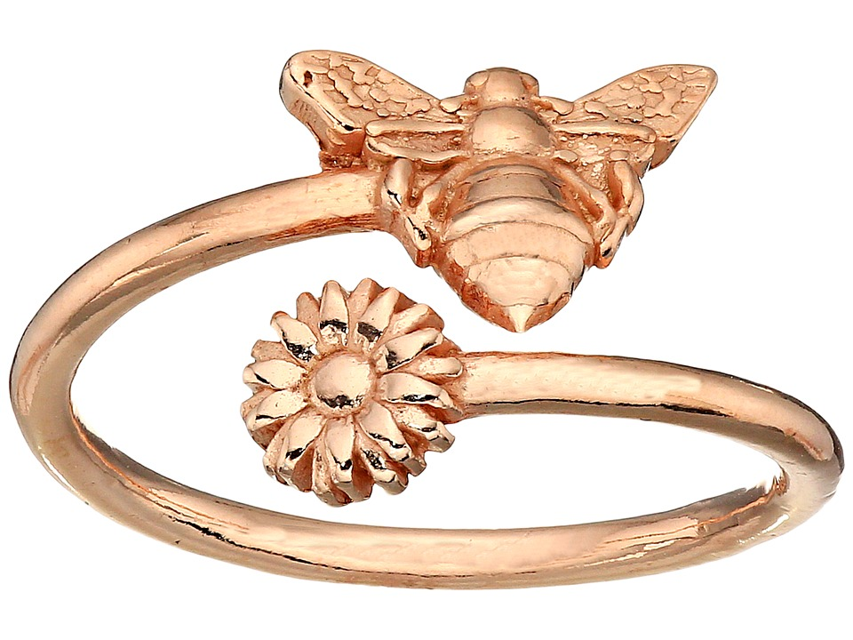 Alex and Ani Ring Wrap Bee Rose Gold Ring
