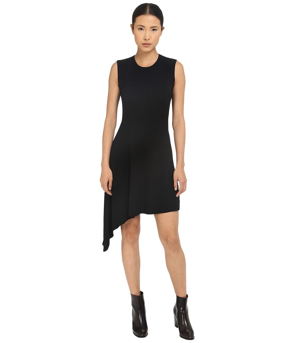Neil Barrett Mixed Yarns Bicolour Asymmetrical Dress Black Womens Dress