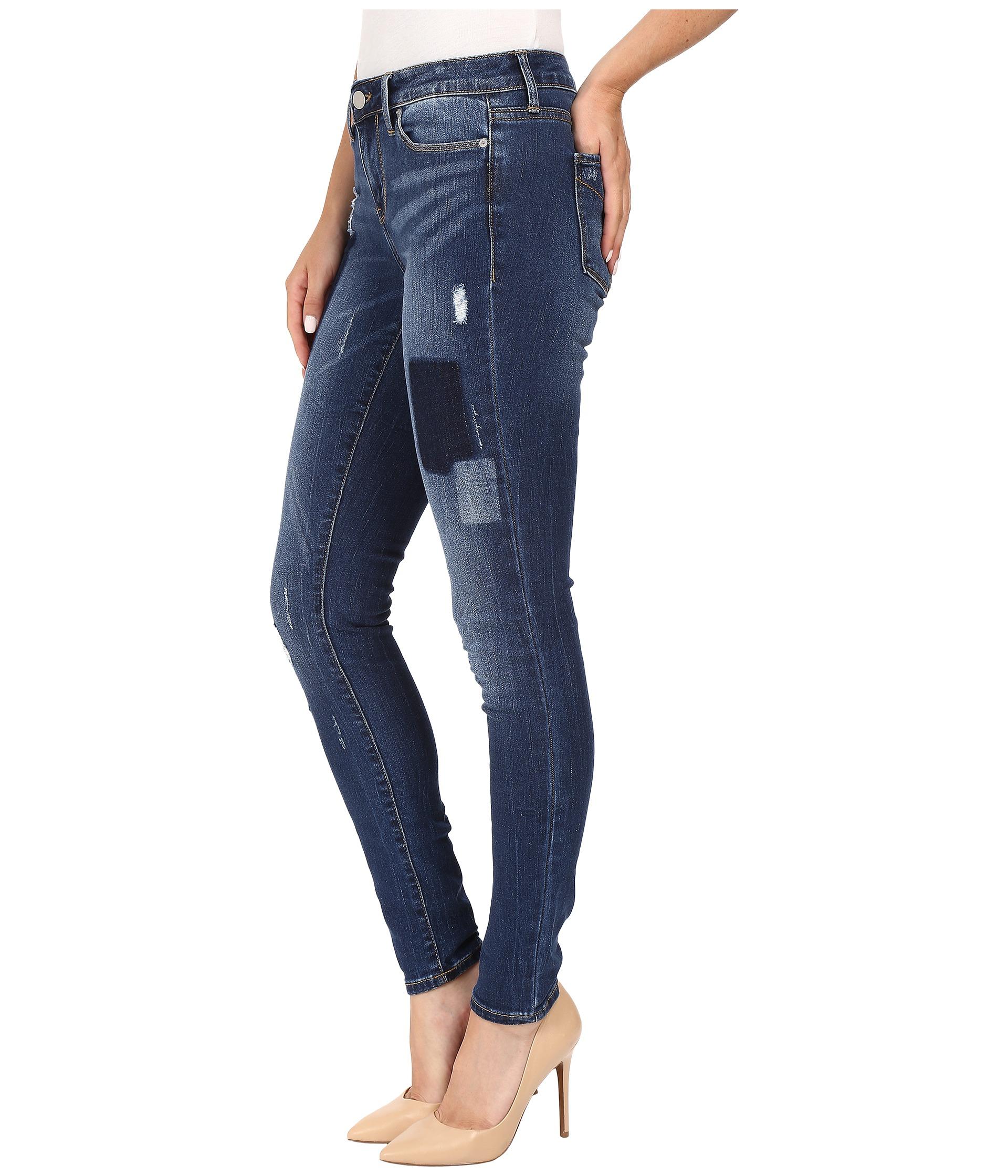 calvin klein jeans leggings in patchwork indigo free shipping both ways. Black Bedroom Furniture Sets. Home Design Ideas