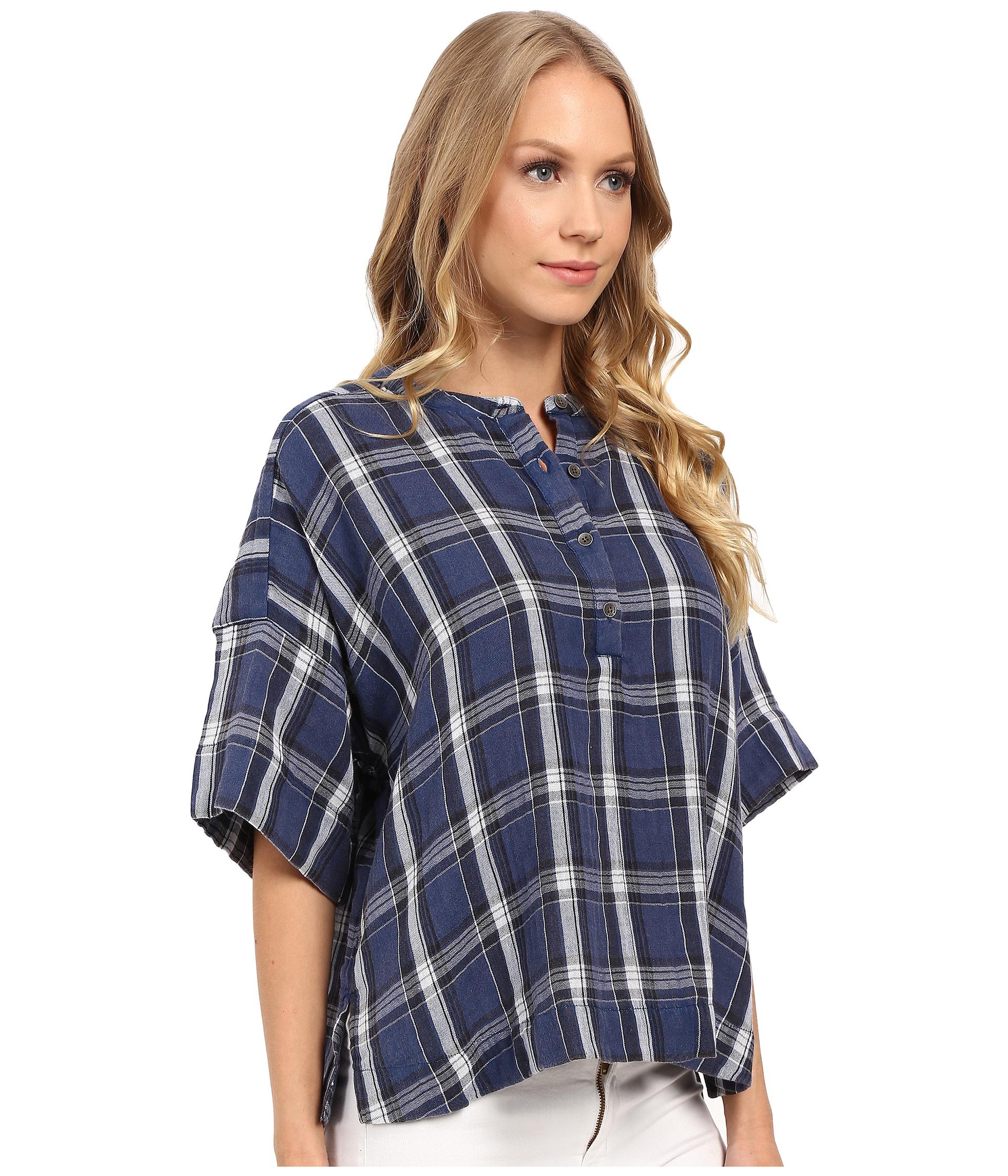 Calvin klein jeans plaid henley 3 4 sleeve shirt zappos for 3 4 henley shirt