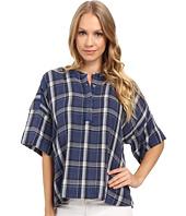 Calvin Klein Jeans - Plaid Henley 3/4 Sleeve Shirt