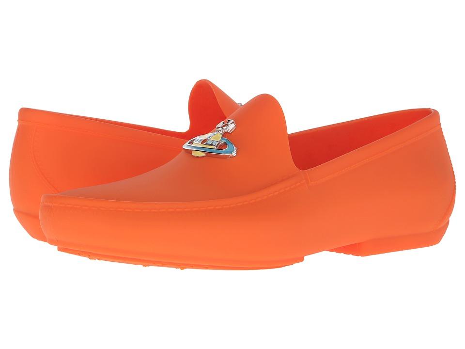 Vivienne Westwood Orb Enameled Plastic Mocassin (Orange) Men