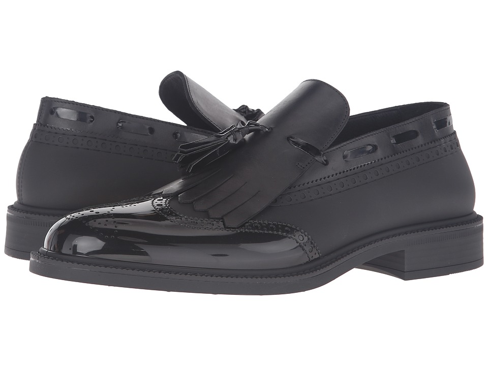 Vivienne Westwood Slip-On Plastic Brogue (Black/Black) Men