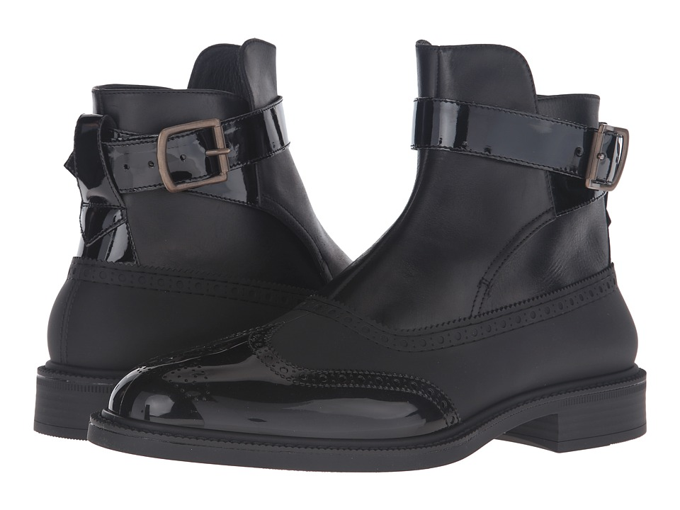 Vivienne Westwood Jodhpur Brogue Plastic Boot (Black/Black) Men
