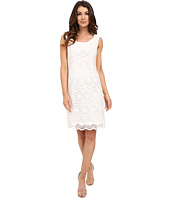 Adrianna Papell - Scoop Neck Crochet Sheath Dress