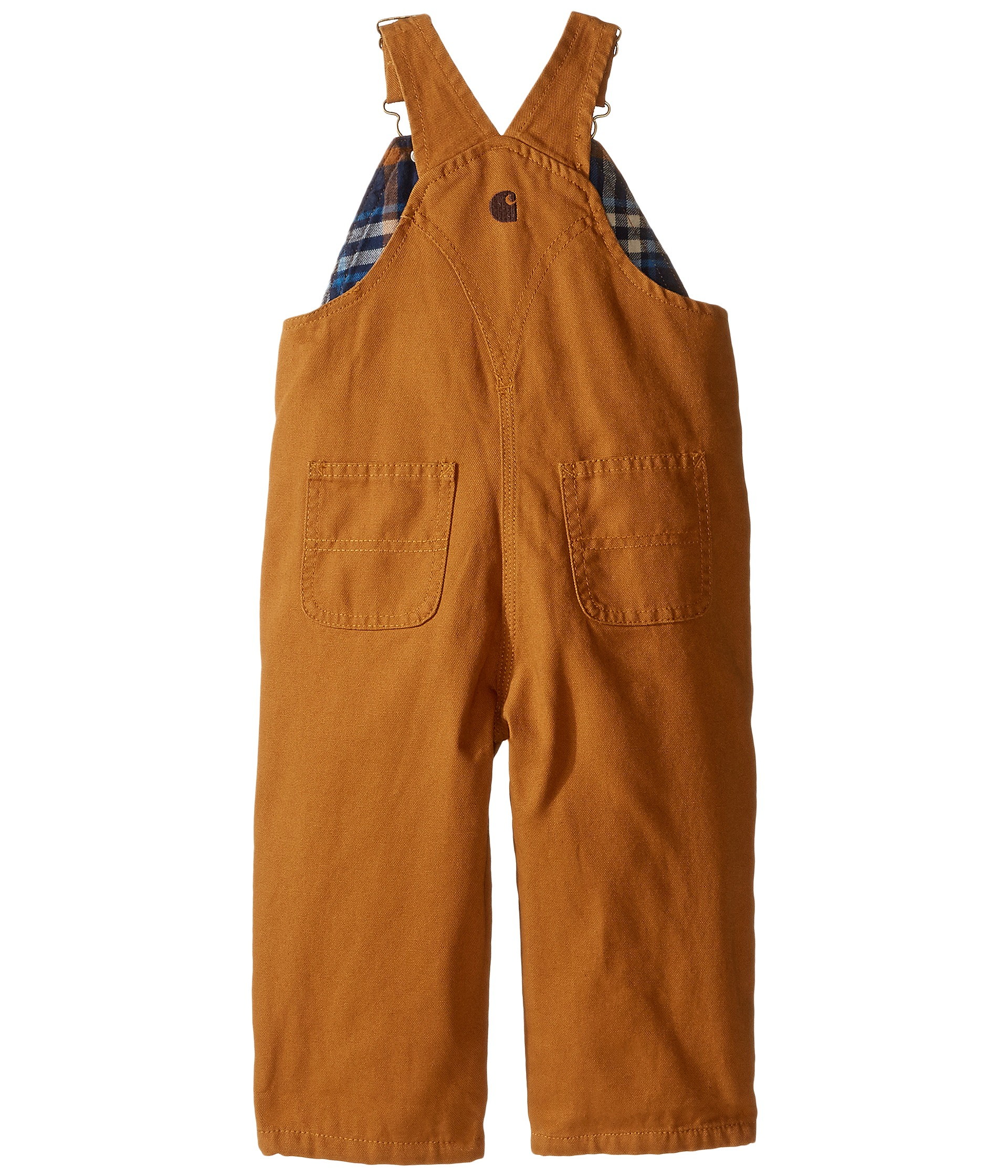 Carhartt Kids Canvas Bib Overall Flannel Lined Infant