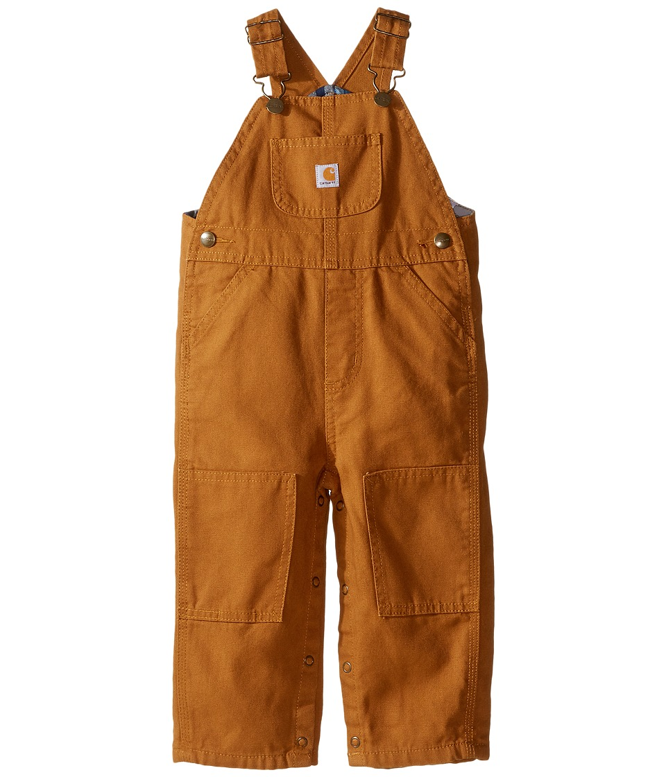 Carhartt Kids - Canvas Bib Overall/Flannel Lined (Infant)...
