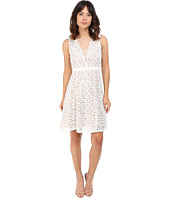 Adrianna Papell - V Inset Fit & Flare Lace Dress
