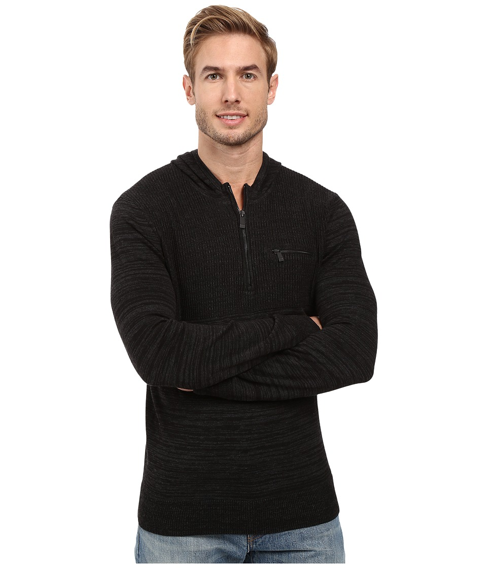 Calvin Klein - Cotton Modal Parallel Rib Sweater (Black Combo) Men