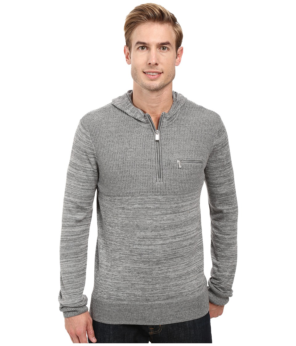 Calvin Klein - Cotton Modal Parallel Rib Sweater (Lockbox Heather Combo) Men