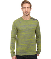 Calvin Klein - Cotton Acrylic & Faux Suede Zip Sweater