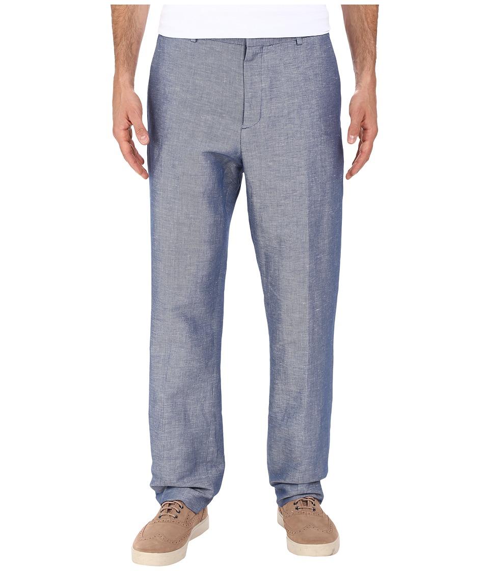 Perry Ellis Linen Twill Suit Pant Blueprint Mens Casual Pants