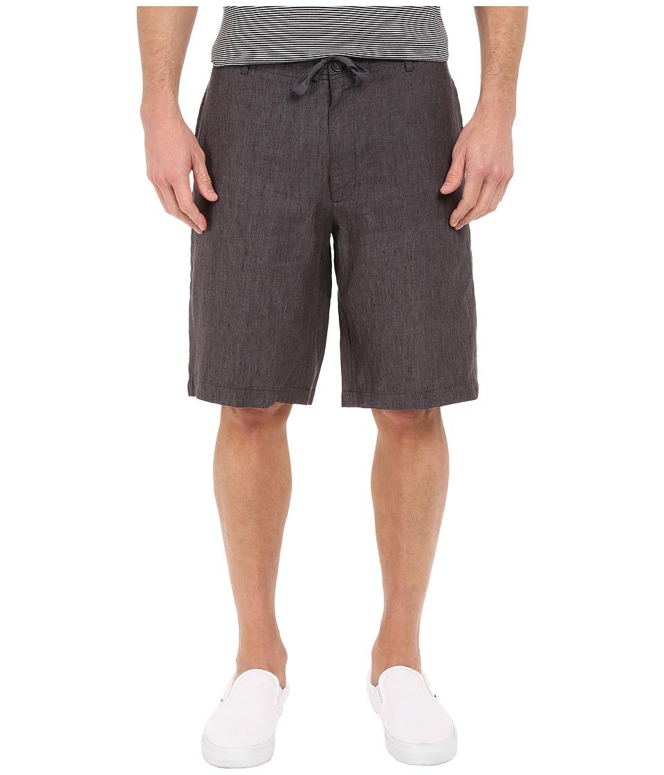 Perry Ellis Linen Washed Drawstring Shorts Slate Mens Shorts