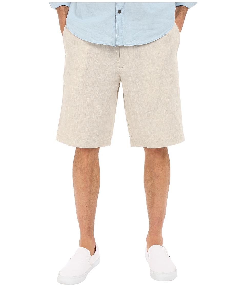 Perry Ellis Linen Washed Drawstring Shorts Natural Linen Mens Shorts