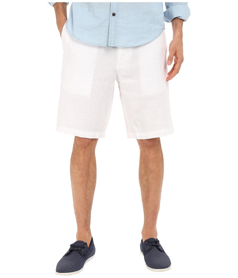 Perry Ellis Linen Washed Drawstring Shorts Bright White Mens Shorts
