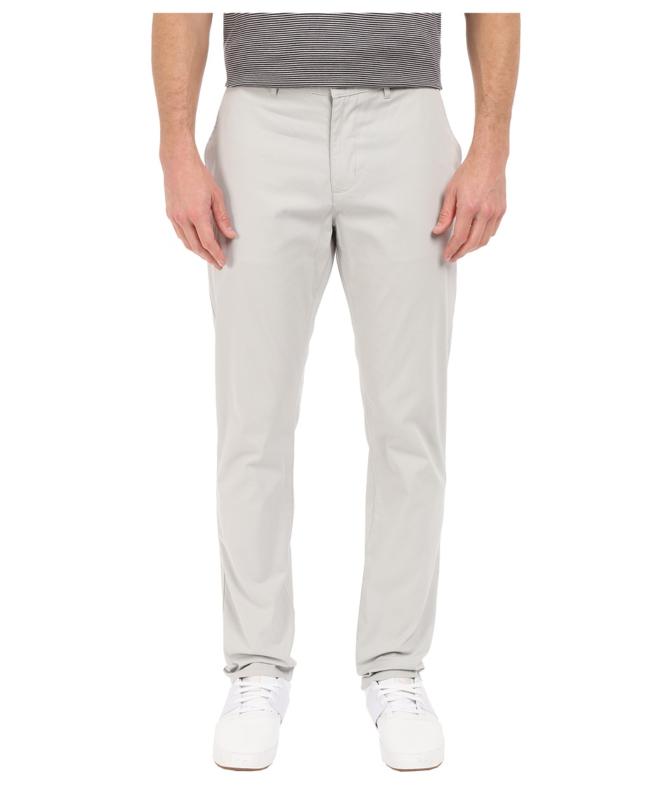 Perry Ellis Slim Fit Cotton Twill Chino in Light Grey Light Grey Mens Jeans
