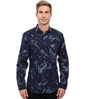 Calvin Klein - Long Sleeve Geometric Camo Print Shirt
