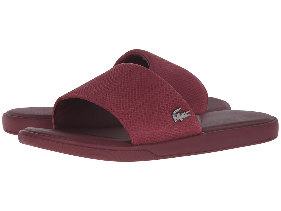 Lacoste - L.30 Slide Casual Cam (Dark Red) Men