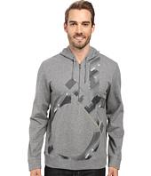 Calvin Klein - Long Sleeve Solid Ponte CK Printed Q-Zip Hoodie