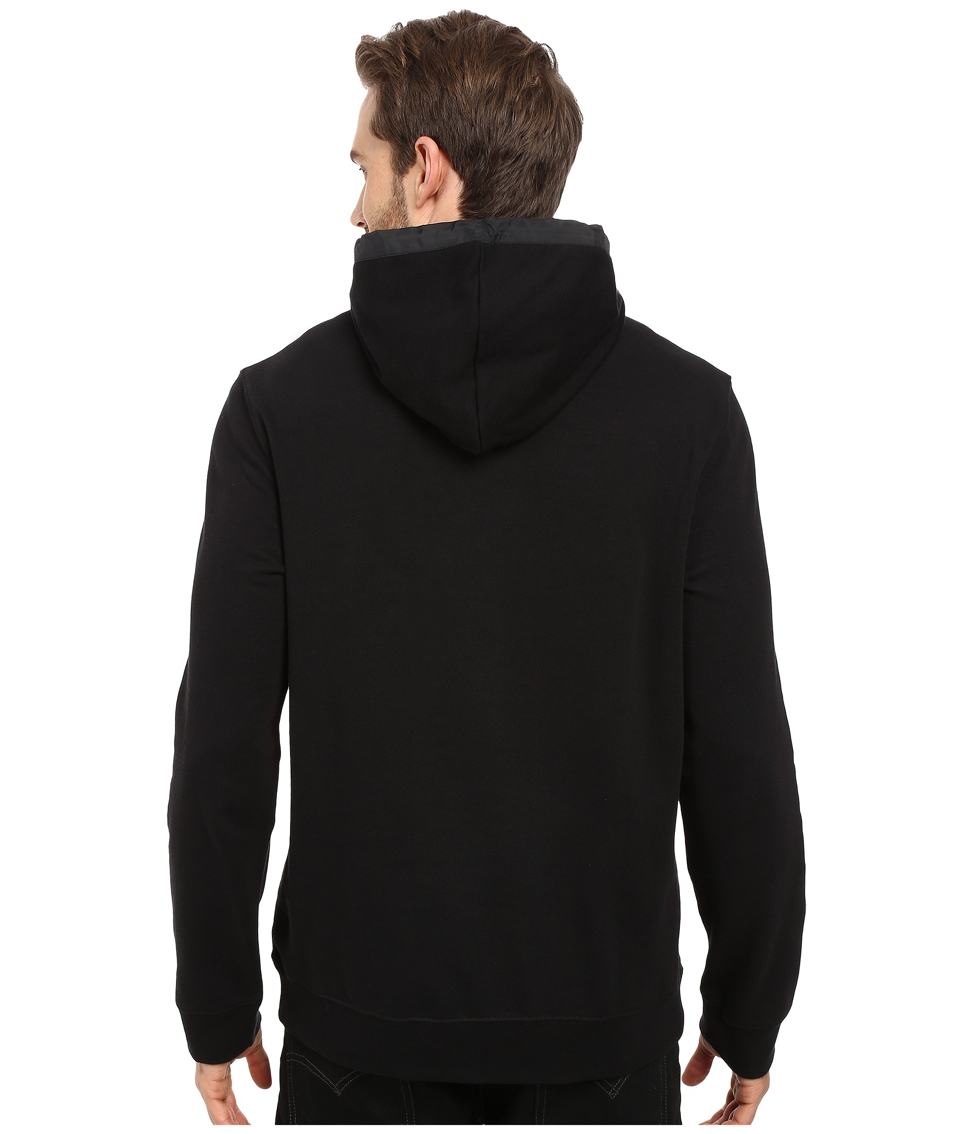 calvin klein long sleeve ck logo hoodie free shipping both ways. Black Bedroom Furniture Sets. Home Design Ideas