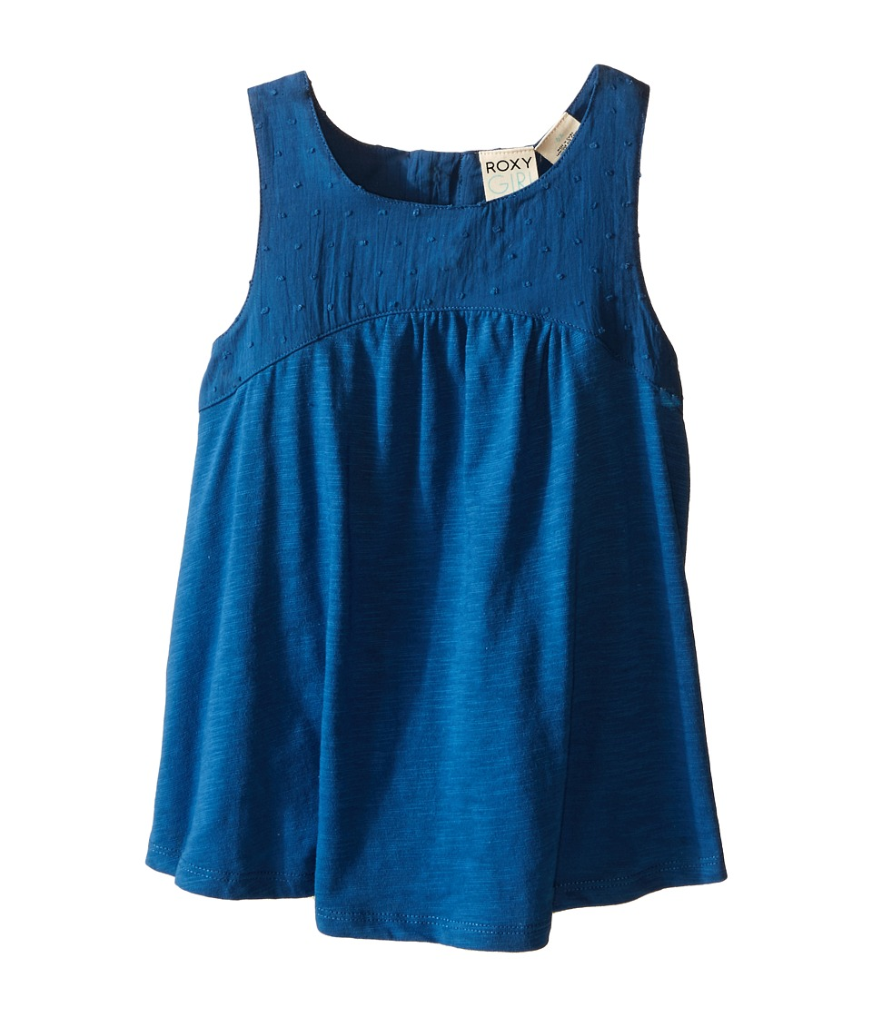 Roxy Kids Beach Bummin Tank Top Toddler/Little Kids Dark Blue Girls Sleeveless