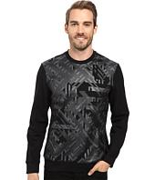 Calvin Klein - Long Sleeve Geo Camo Print Ponte Shirt