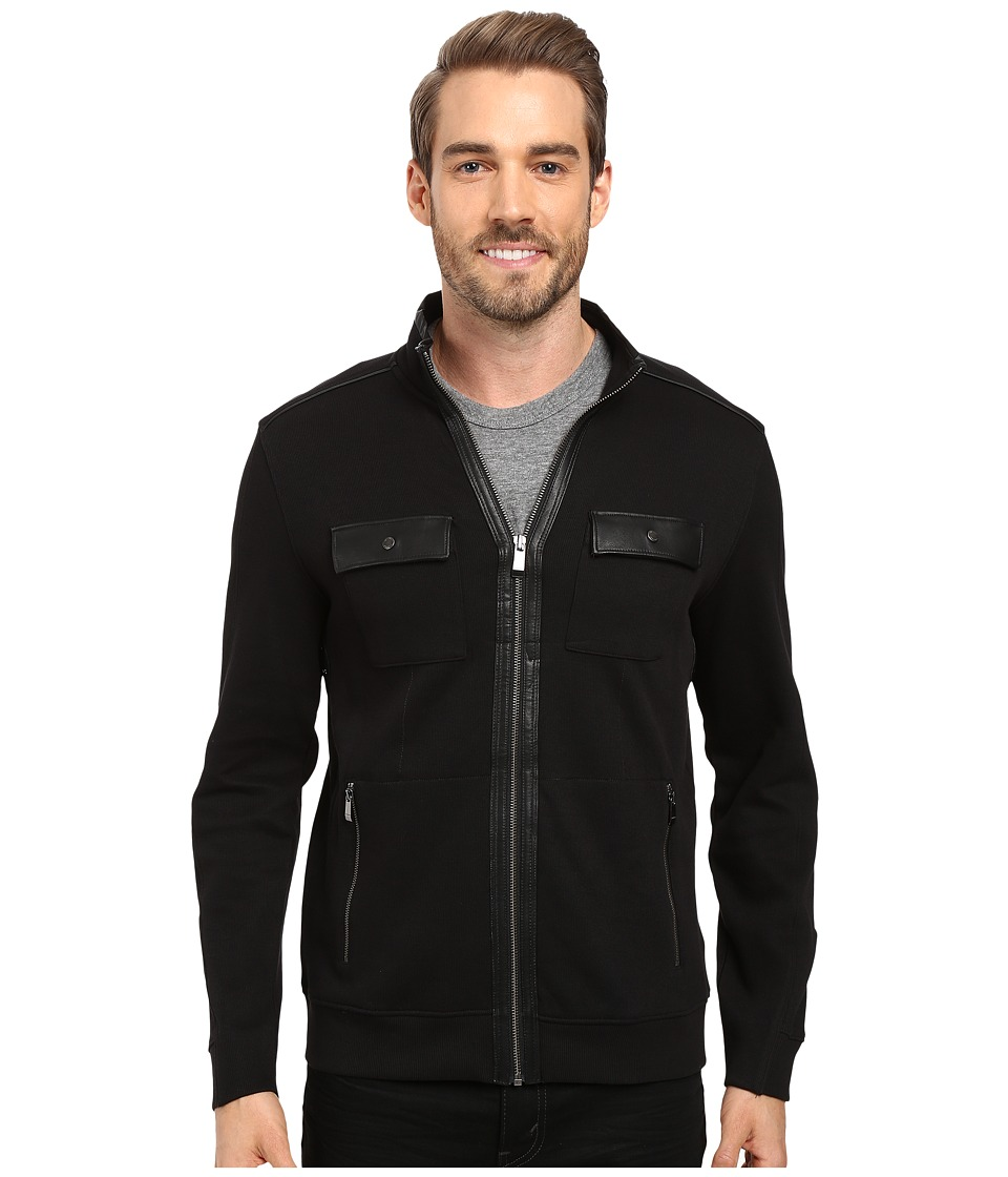 Calvin Klein Long Sleeve Solid French Rib Four-Pocket Moc...