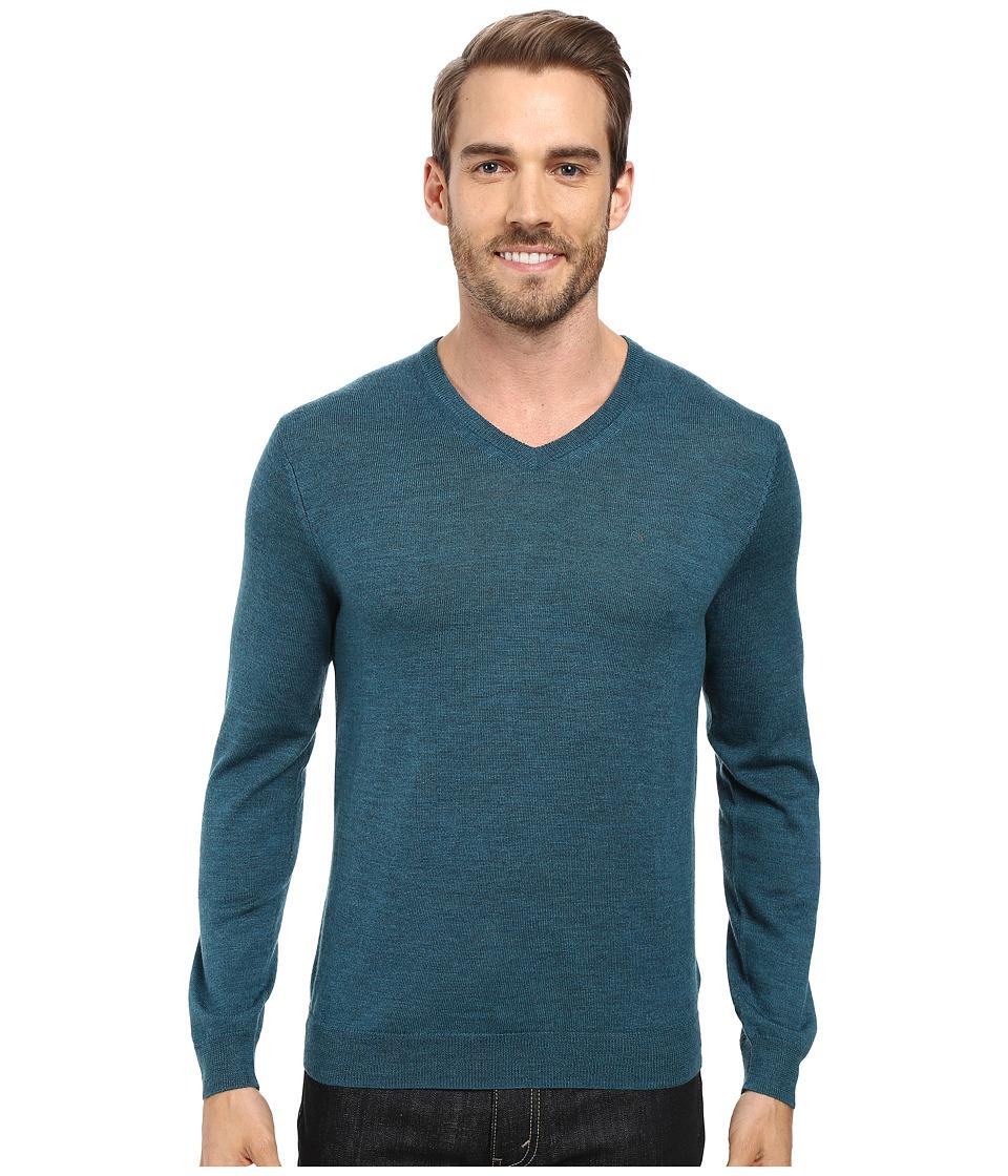 Calvin Klein - Merino Moon and Tipped V-Neck Sweater (Zola) Men