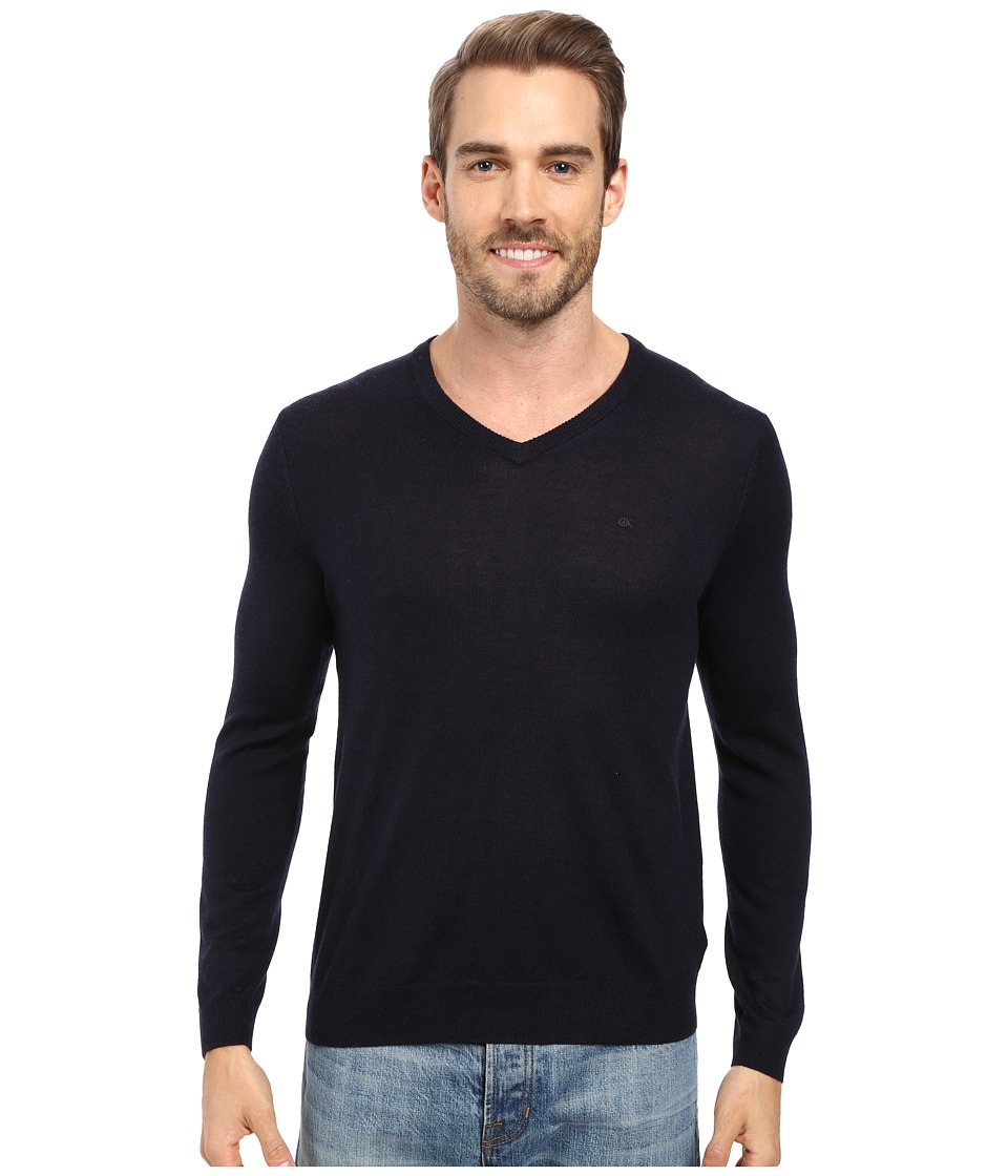 Calvin Klein - Merino Moon and Tipped V-Neck Sweater (Roma) Men